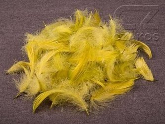 Decorative feathers - green olive, 12 g