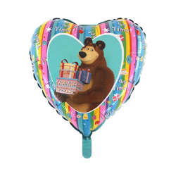 Foil Balloon Masha and the Bear with gifts - 46 cm Grabo Heart