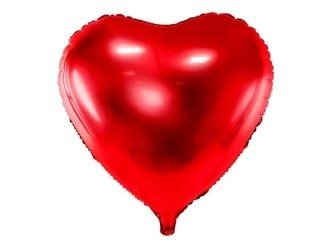 Foil balloon Heart XXL, 61cm, red