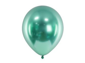 Glossy Balloons, Green chrome, 30cm, 50 pcs.
