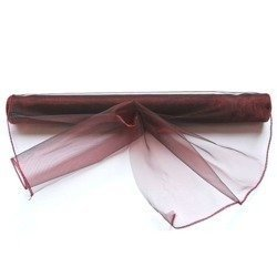 Organza welted 39 cm x 8 m - Maroon