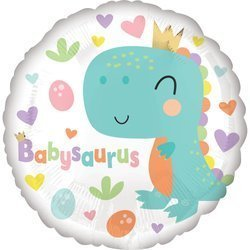 Standard Babysaurus Foil Balloon S40 Packaged