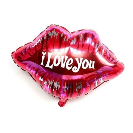 Balloon Foil Lips - I Love You - 58 x 51 cm