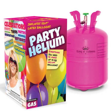 Cylinder 0.42 m 3 + Helium balloons 50, ribbon and Reduction