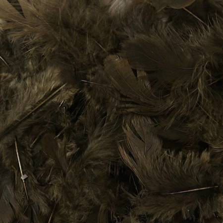 Decorative feathers - Black 12 g