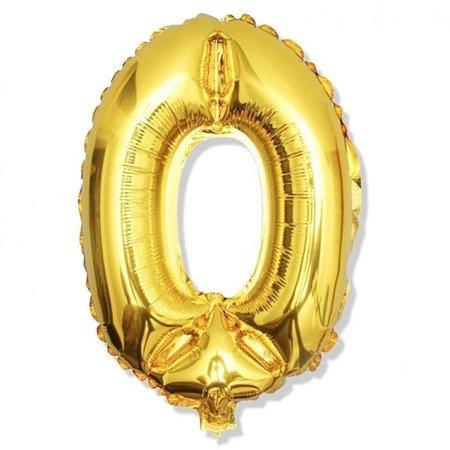 Number 0 Foil Balloon 42 inch, Gold
