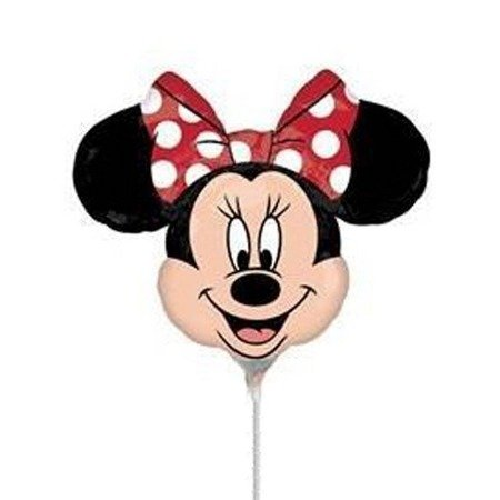 The foil balloon - Minnie, on the stick 30 cm